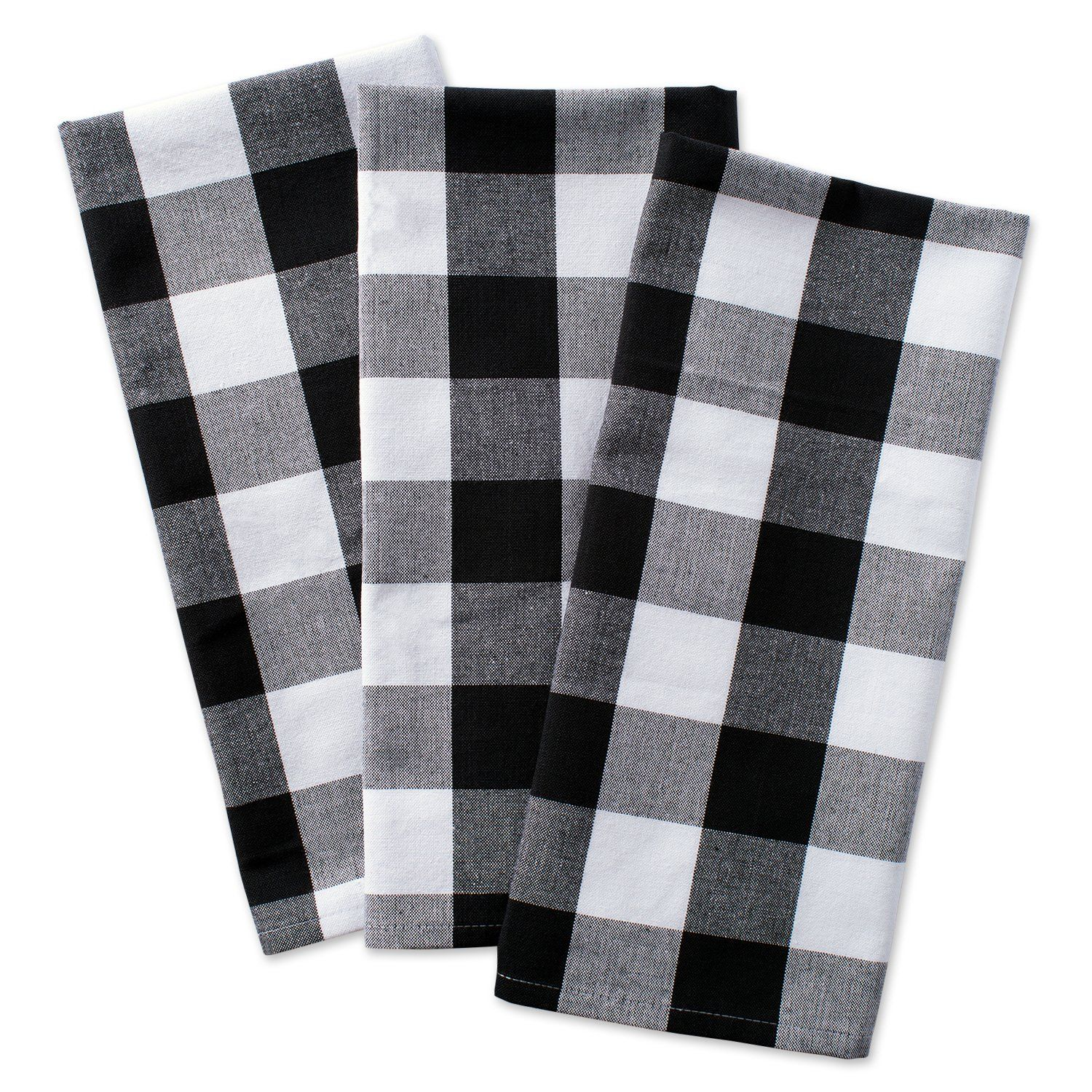 Dii Cotton Buffalo Check Plaid Dish Towels 20x30 Set Of 3 Monogrammable Oversized Kitchen Towels For Drying Clea With Images Dish Towels Buffalo Check Plaid Design Imports
