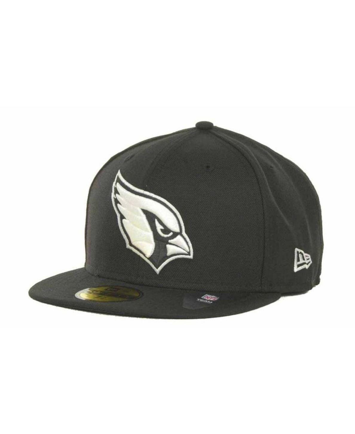New Era Arizona Cardinals 59fifty Cap Black