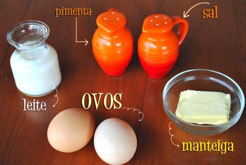 Ingredientes para se fazer ovos mexidos perfeitos