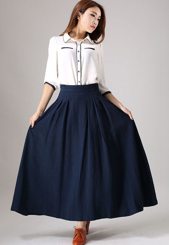 High Waisted Full Skirt