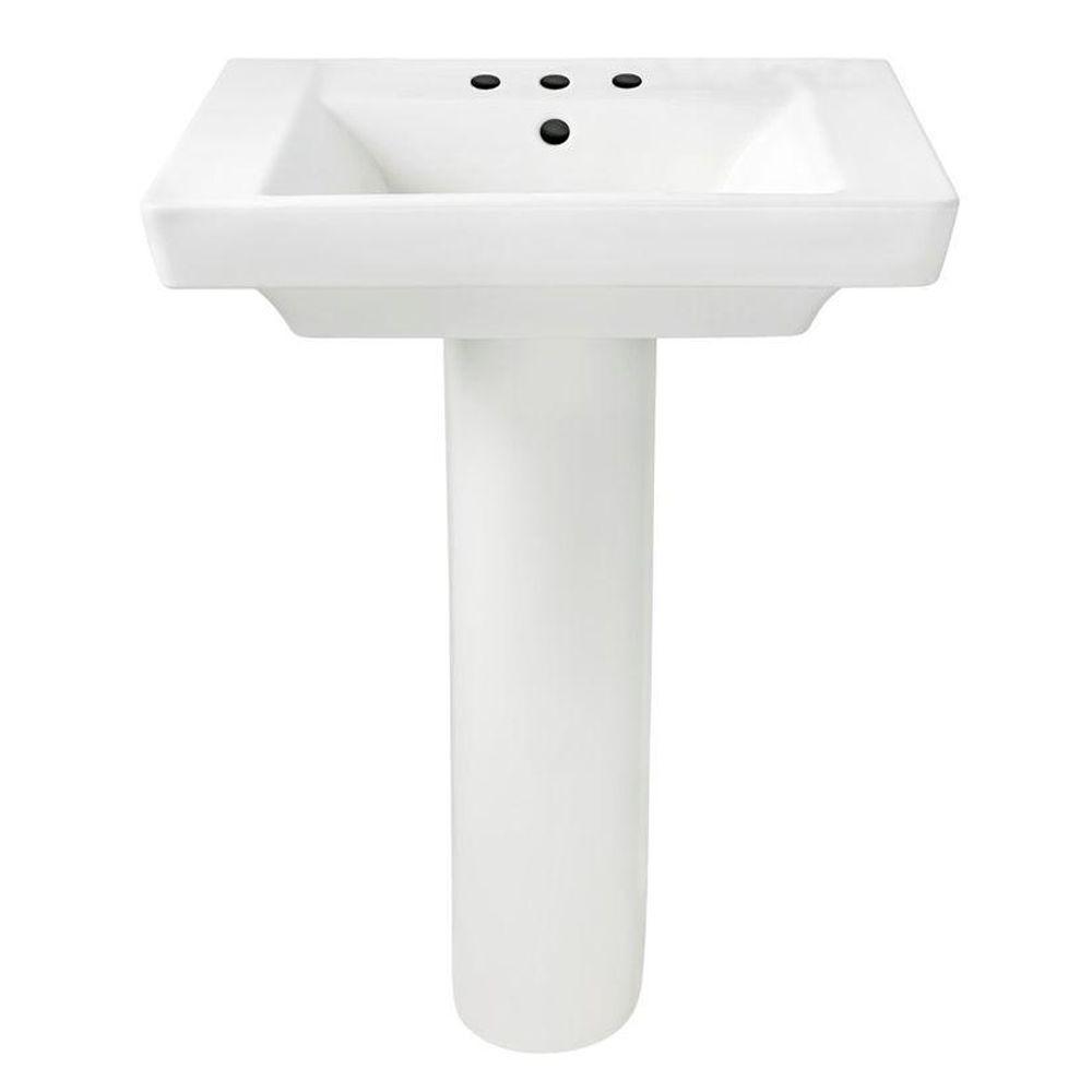 American Standard Boulevard Pedestal Combo Bathroom Sink In White