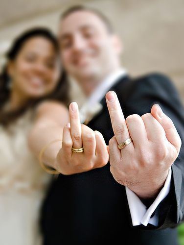 cute picture idea showing off your wedding rings - What Finger For Wedding Ring