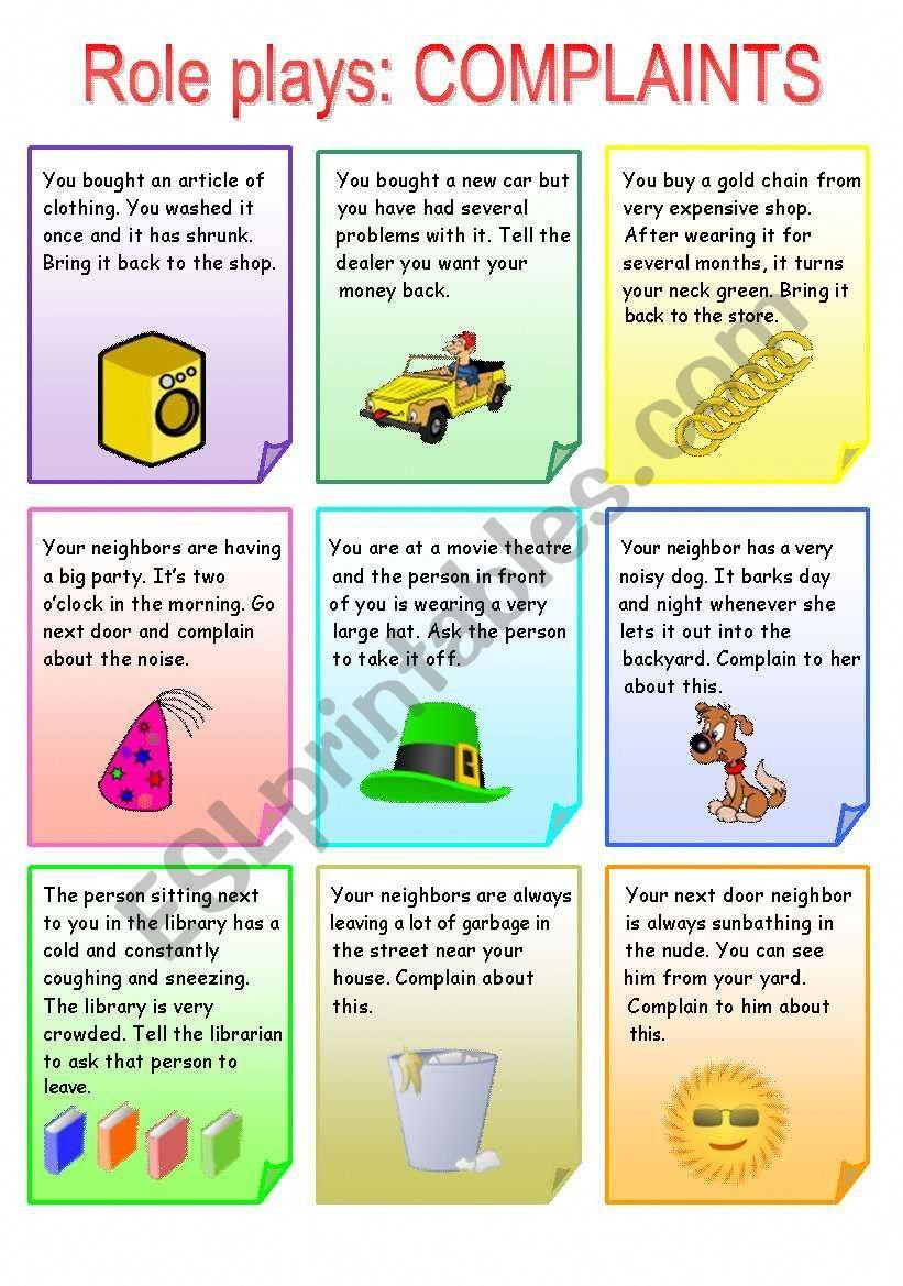 Students Work In Pairs And Role Play The Given Situations This Activity Will Help Your Student Speaking Activities English English Teaching Materials Roleplay