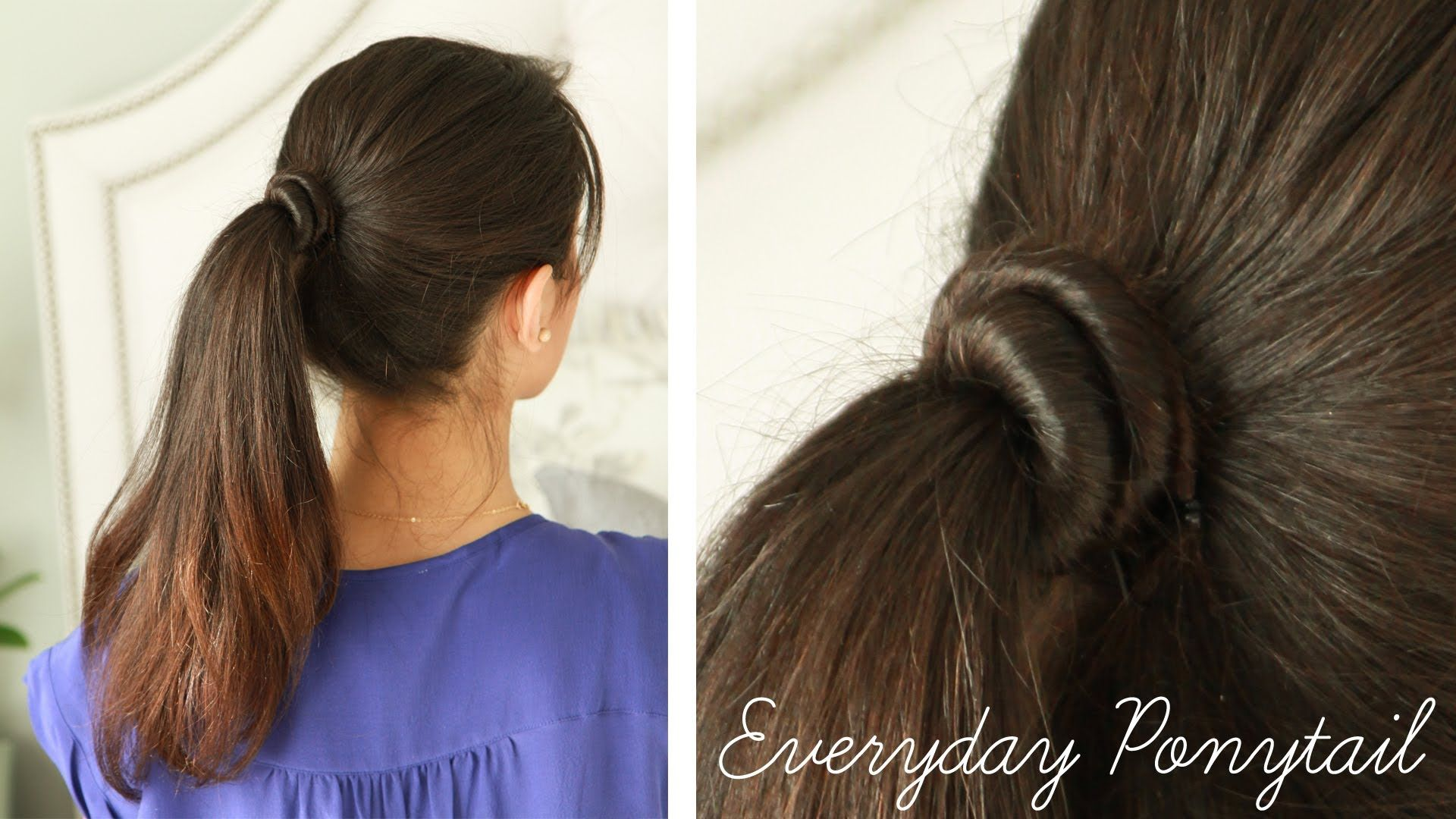 Everyday Ponytail For School Or Work Updos For Work Pinterest