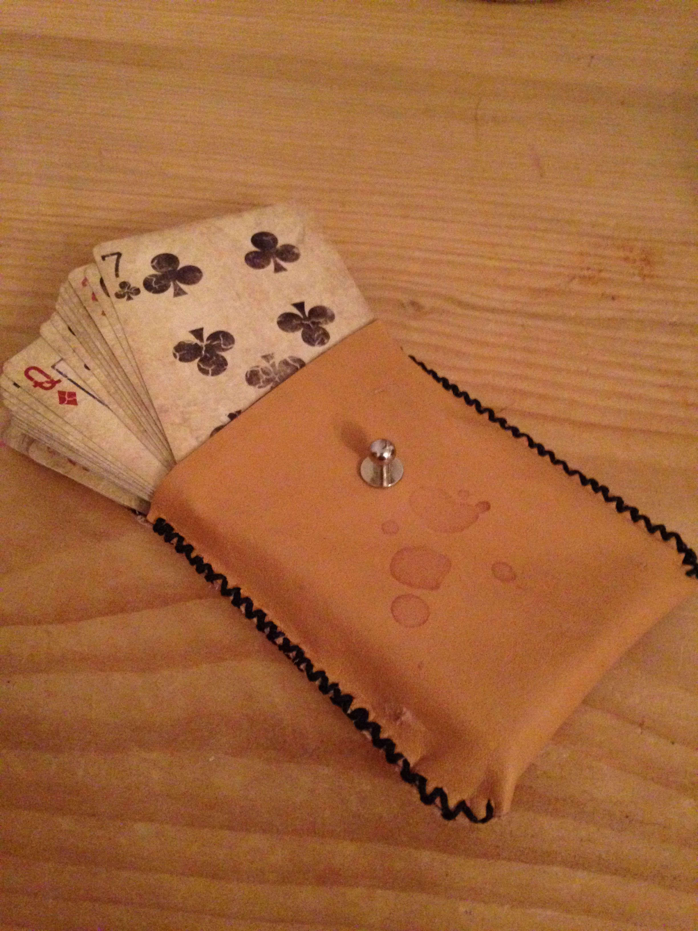 leather pouch for playing cards
