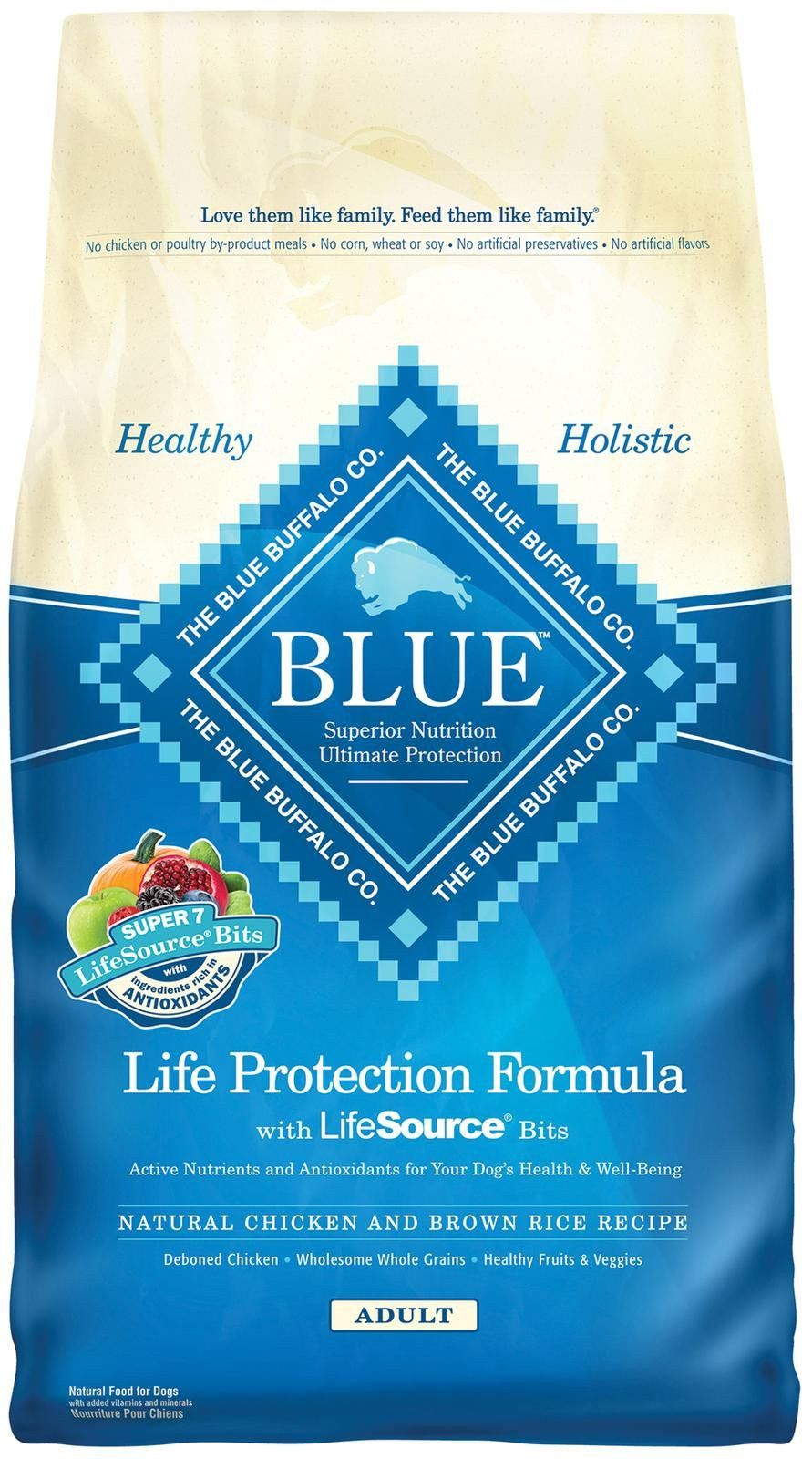 Blue buffalo life protection formula adult chicken brown