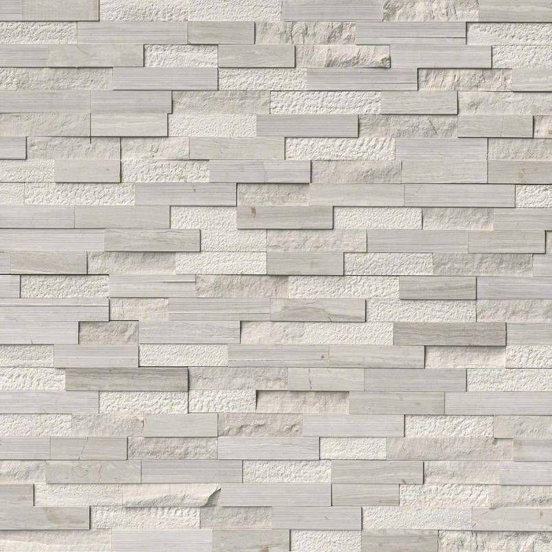 White Oak Multi Finish Stacked Stone Panels
