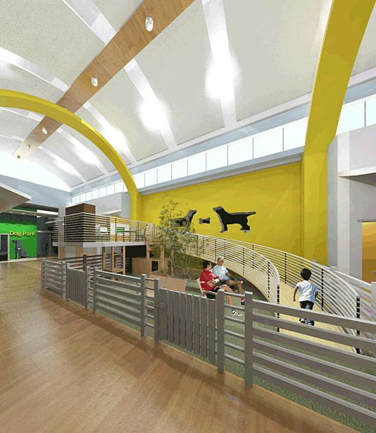 The Evolution In Animal Shelters Community Pet Centers Animal Shelter Design Shelter Design Best Friends Animal Shelter