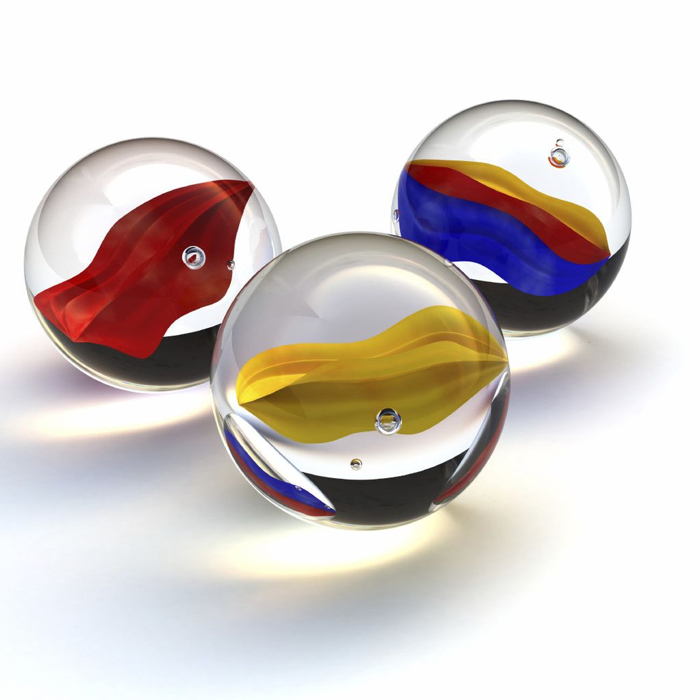 Three marbles