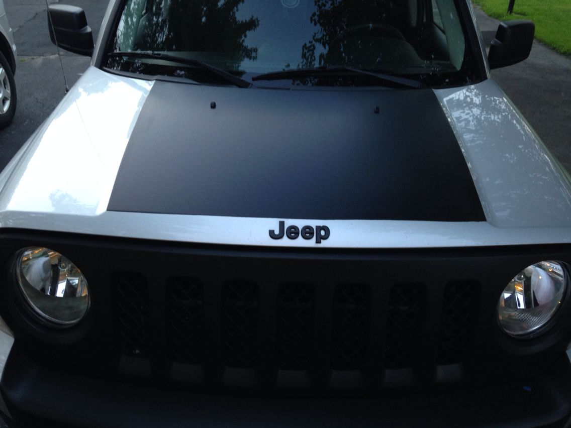 Plasti dipped hood detail Jeep patriot, Jeep life, Jeep mods