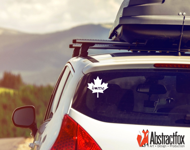 Canadian Heart Home Car Decal Maple Leaf Car Sticker Car Etsy Great American Road Trip Road Trip Car Hire
