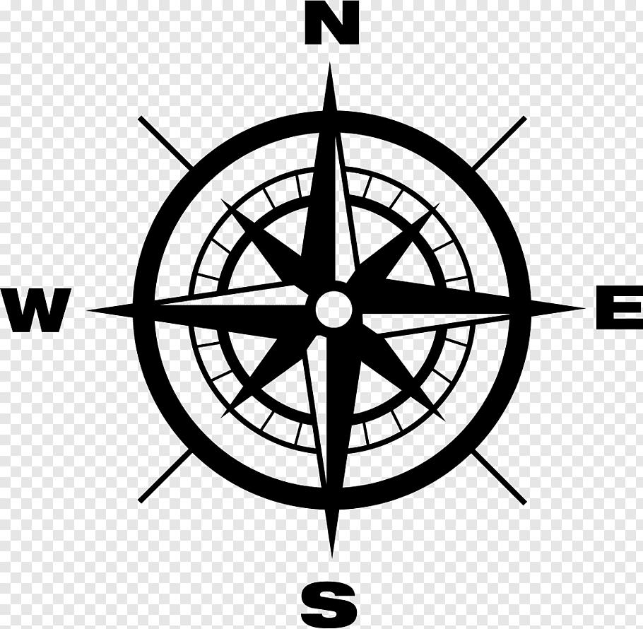 Black And White Compass Illustration North Cardinal Direction Compass Compass Free Png Compass Compass Art Compass Icon