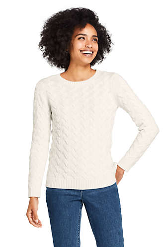Photo of Women's Cotton Cable Drifter Crewneck Sweater