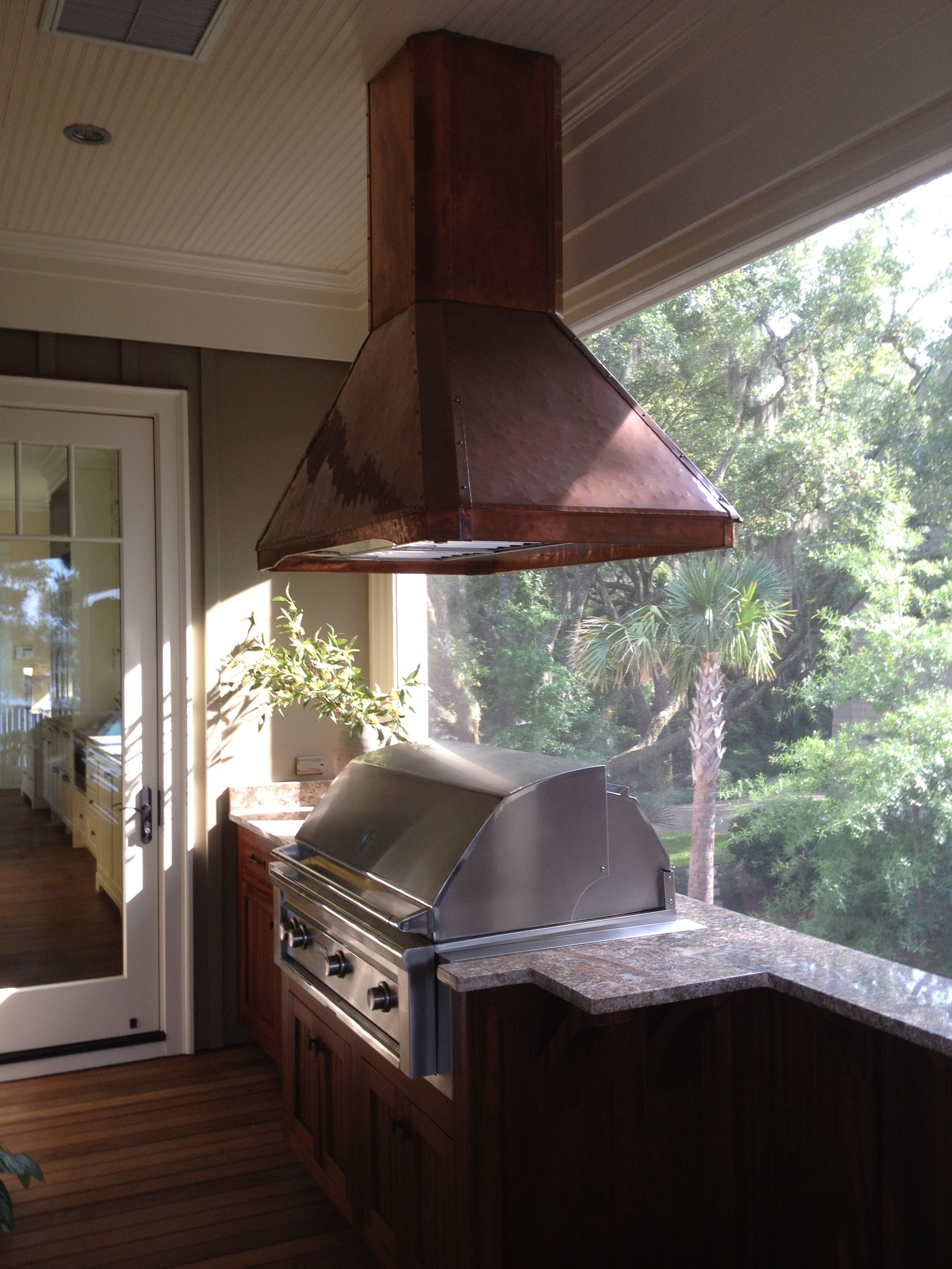 Outdoor Kitchen Exhaust Hoods 4 Piece Appliance Packages Copper Hood Vent Architectural Metal Work In 2019 Patio Kitchens