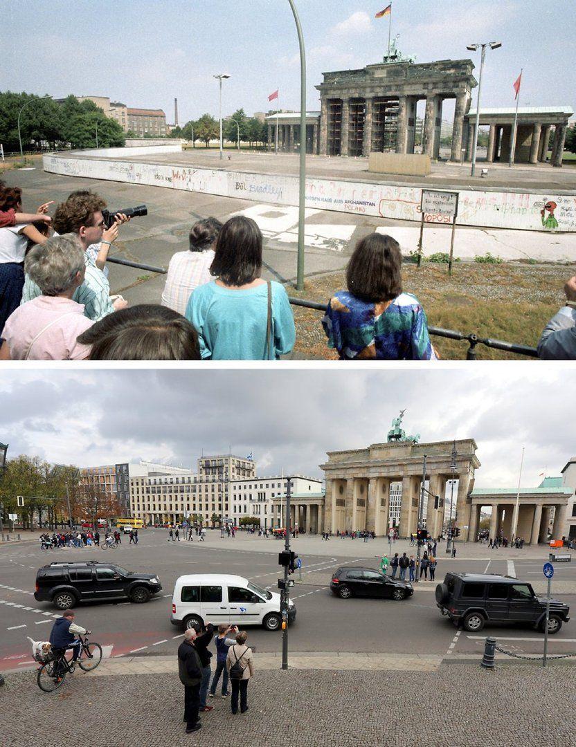 Fotogalerie Berliner Ansichten Vor Und Nach Der Wende Berliner Mauer Berlin Stadt Berlin