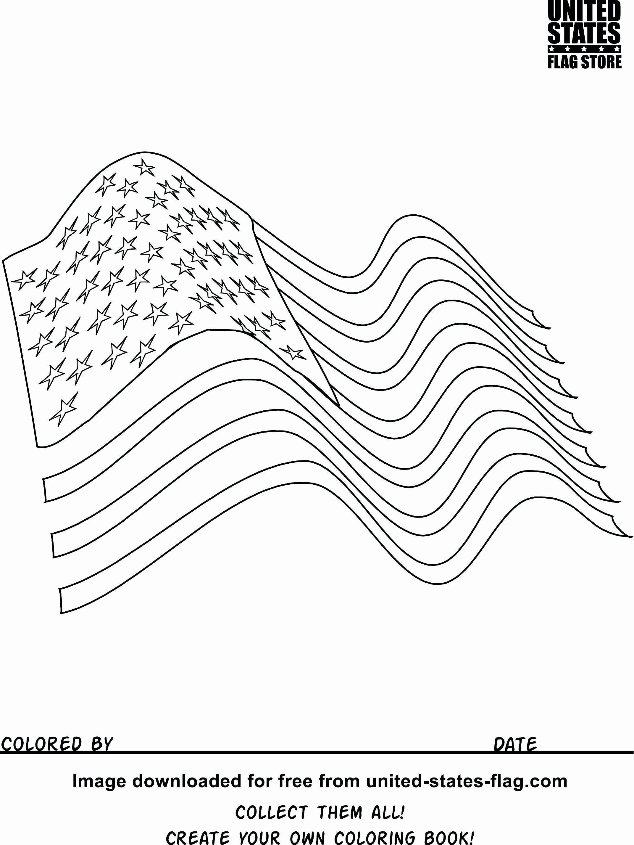An American Flag Coloring Page Printable American Flag Coloring