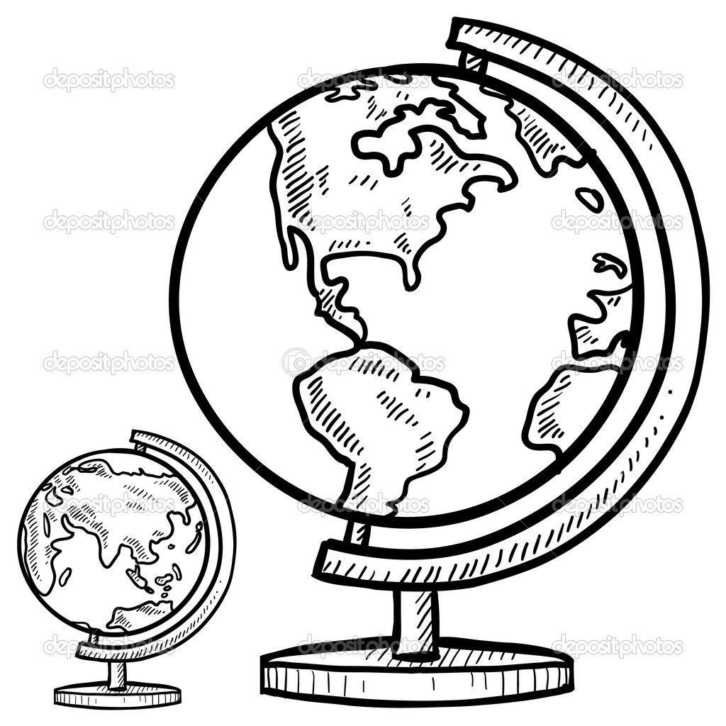 love your neighbor as yourself color page | Desktop globe sketch ...