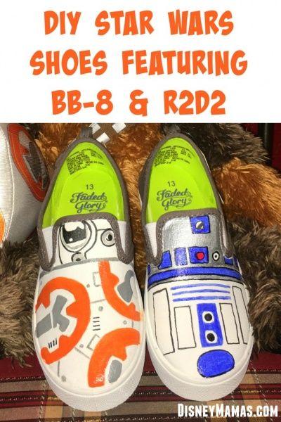 47ab9df2b8754 Celebrating Star Wars ~ DIY BB-8 Shoes   Disney Crafts   Star wars ...