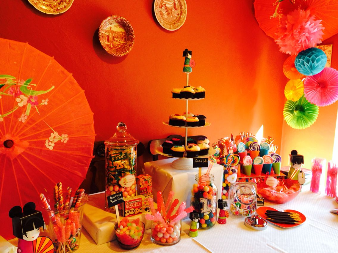 Japanese themed party decorations for 13th birthday decoration ideas