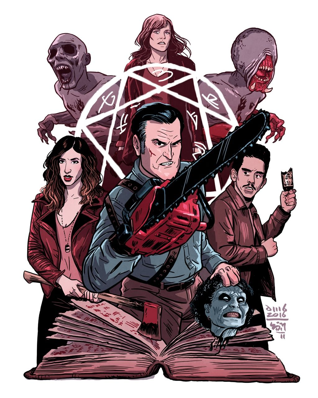 Ashy Slashy Art By David M Buisán Evil Dead Movies Ash Evil Dead Horror Movie Art