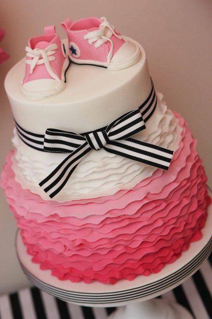 ab86d77e5c75 Baby Converse Dessert Table Cake by CupcakesbyAmanda