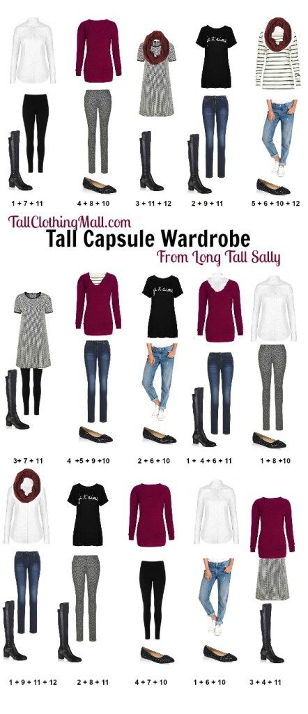 Women's Tall Capsule Wardrobe Created From 12 Pieces From
