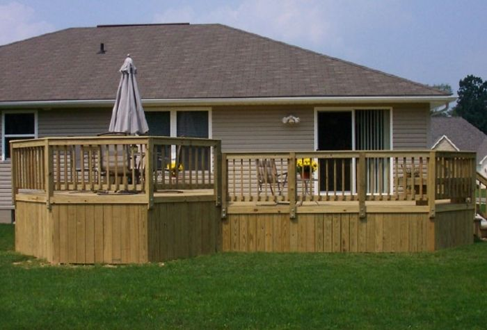 Deck with Solid Board Skirting