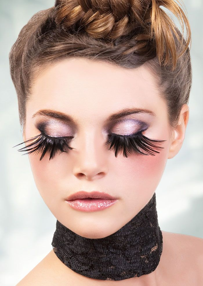 7a78b775320 Teal green extra long dramatic feather eyelashes. | Thick eyelashes ...