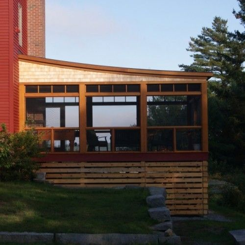 Flat Deck Design Ideas: Another Flat Roof Screened Porch That Sticks Out The Side