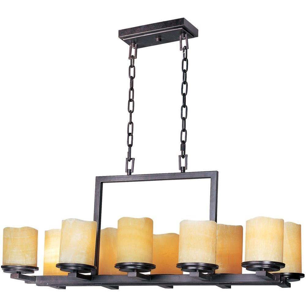 Maxim lighting luminous single tier chandelier 21149scre the home depot