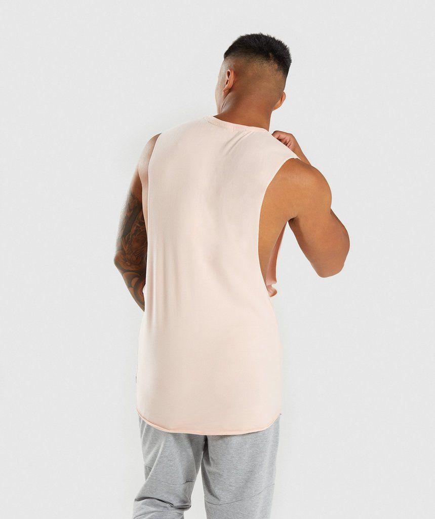 2d87af9bc7c291 Gymshark Eaze Sleeveless T-Shirt - Blush Nude 2