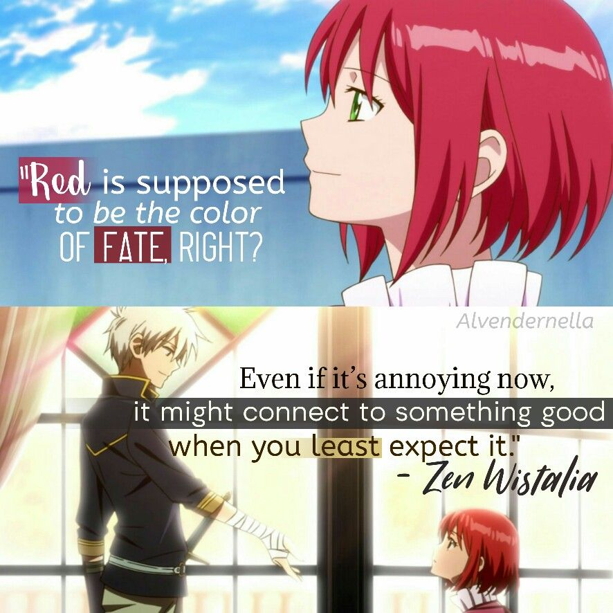 Akagami No Shirayukihime Quote Zen Wistalia Anime Quotes Inspirational Snow White With The Red Hair Anime Love Quotes