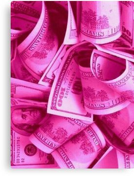'PINK $$$' Canvas Print by oliviaroseco