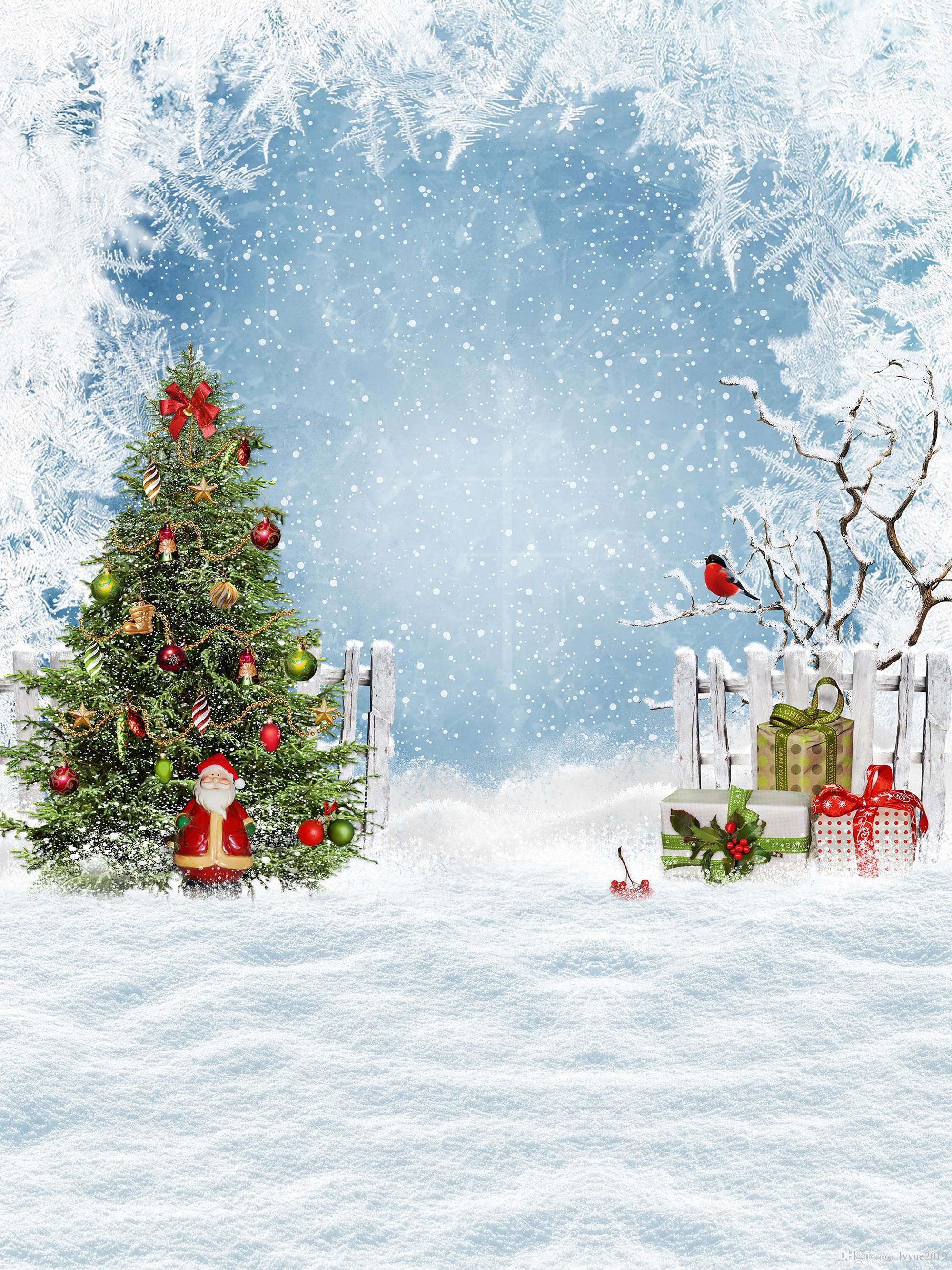 Buy Cheap Background Material In Bulk From China Dropshipping Suppliers Christmas Tree Santa Claus And Gifts Vinyl Photography Backdrops Snow Ground Photo Boot Christmas Backdrops Photo Booth Background Santa Claus Christmas