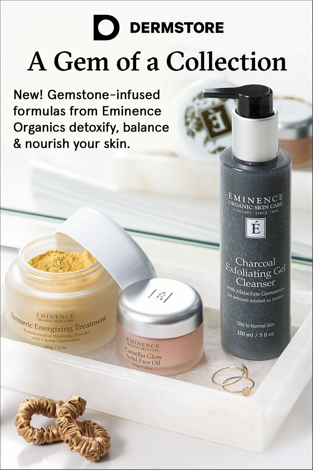 New At Dermstore Eminence Organic Skin Care Gemstone Infused Formulas
