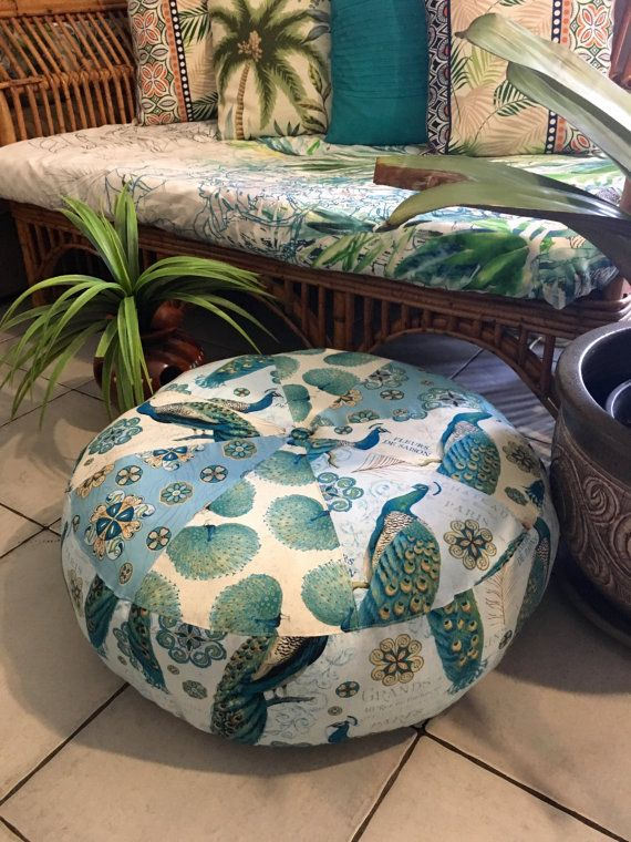 unfilled large peacock pouffe cover made in australia pouffe pouf