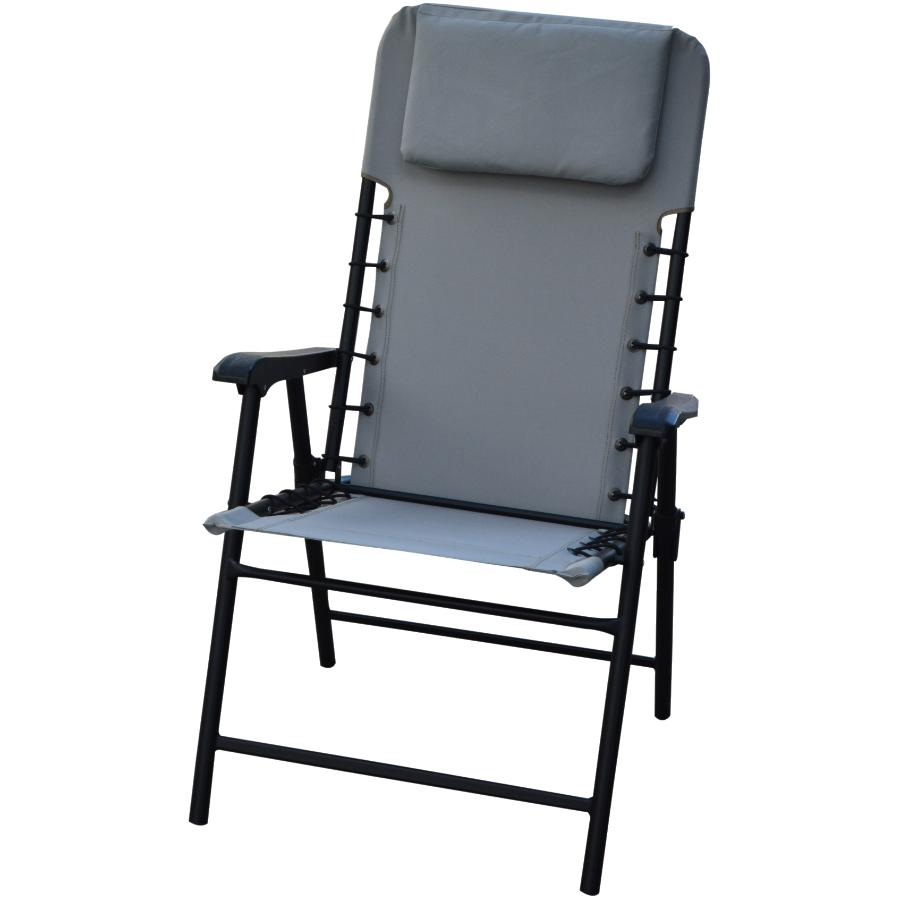 Grey Folding Bungee Chair Bungee chair, Chair, Patio chairs