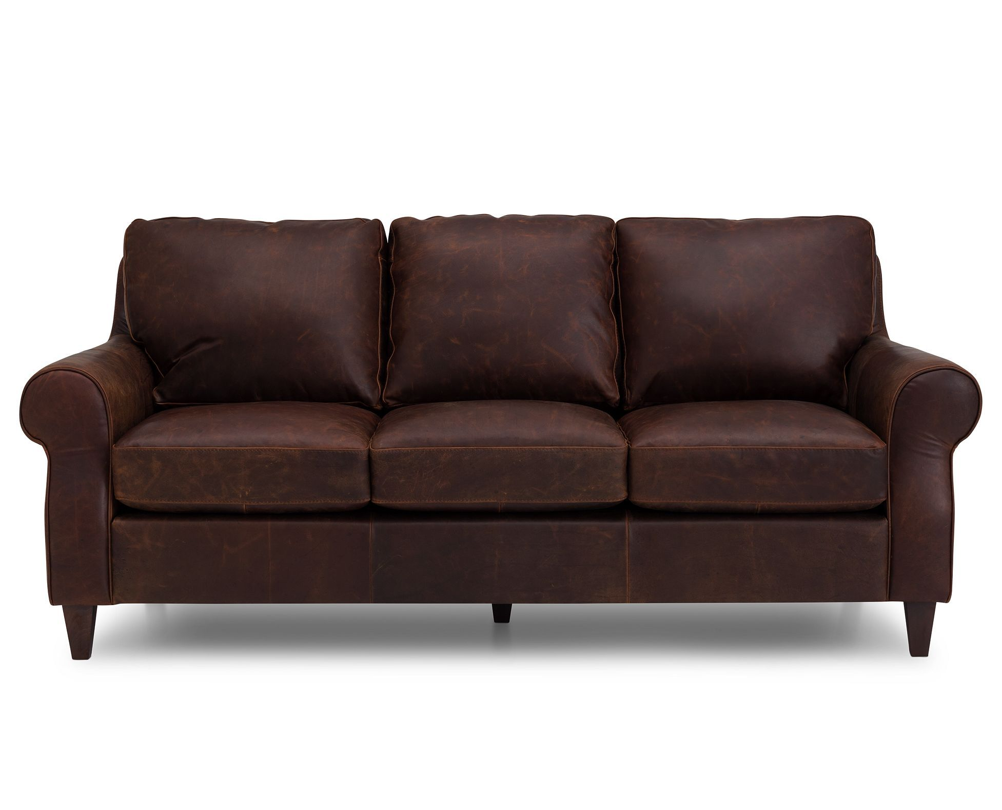 Triana Sofa In Brown Italian Full Grain Leather Buffed In Oil And Wax Is Crafted For Wear And Beauty Furniturerow Livingroomi Rowe Furniture Furniture Sofa