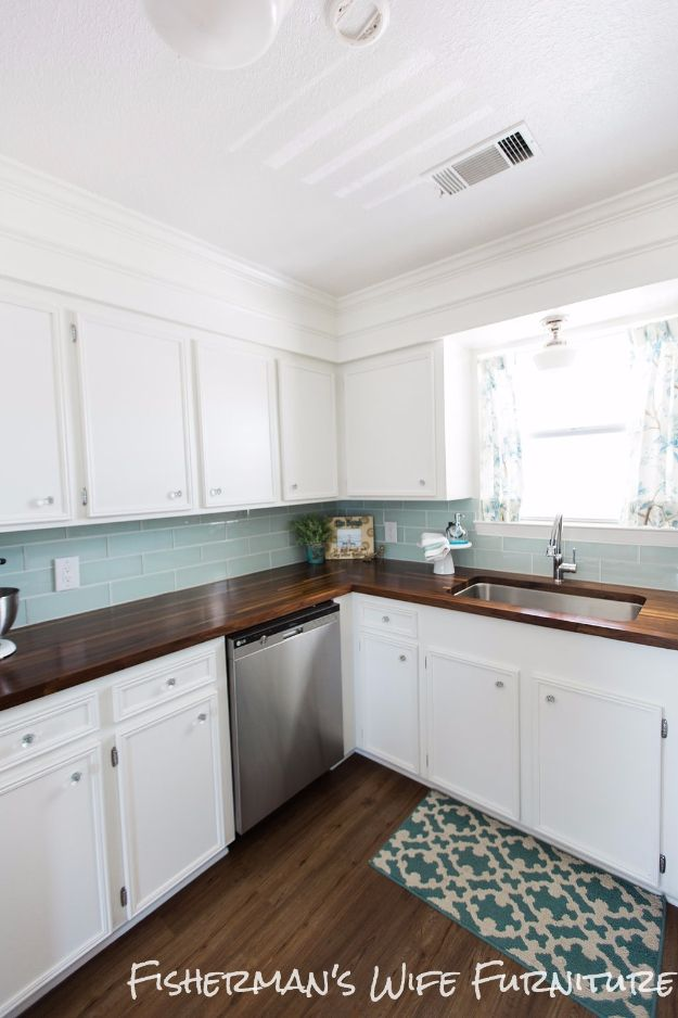 diy kitchen makeover ideas diy butcher block countertops cheap projects projects you can make - Cheap Kitchen Makeover Ideas