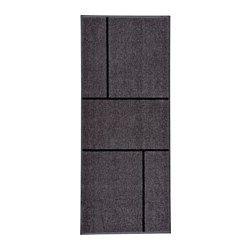 KÖGE Dørmåtte, grå, sort - grå/sort - 82x200 cm - IKEA