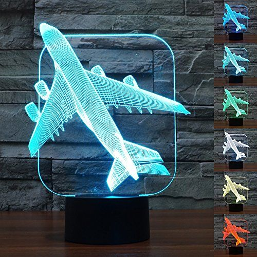 Babygo Desk Lamp Airplane Shapes 3d Optical Illusion Visu Https Www Amazon Com Dp B01lkm96ho Ref Cm 3d Optical Illusions Unique Lighting Optical Illusions