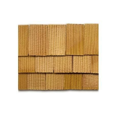Best Cedar Rectangle Shingles 300 Pack Dollhouse Roofing 400 x 300