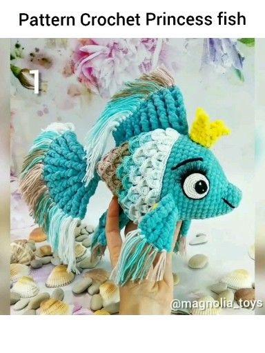 Photo of Pattern Crochet Princess fish