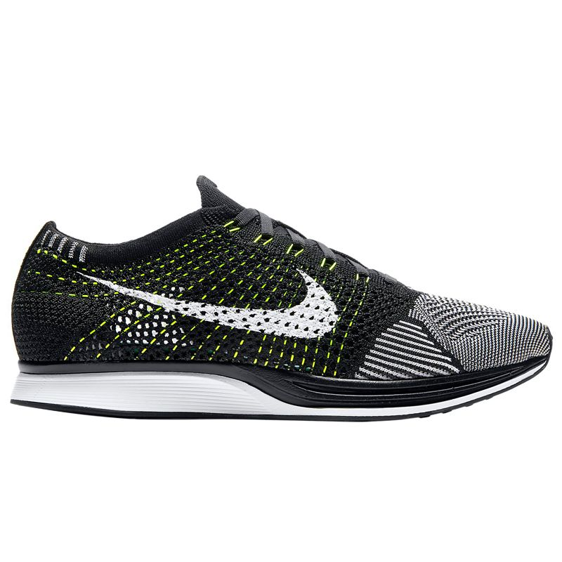 on sale 0a49b fc6c9 NIKE FLYKNIT RACER BLACK WHITE WHITE. 3 Trainer Trends You Need To Know  About For Spring Summer 2016 ...