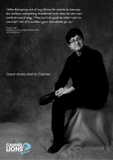 Prasoon Joshi's story. Great stories start in Cannes. #canneslions