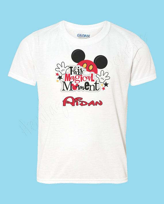 Mickey Mouse Name T Shirt Personalized By HeritageKidDesigns