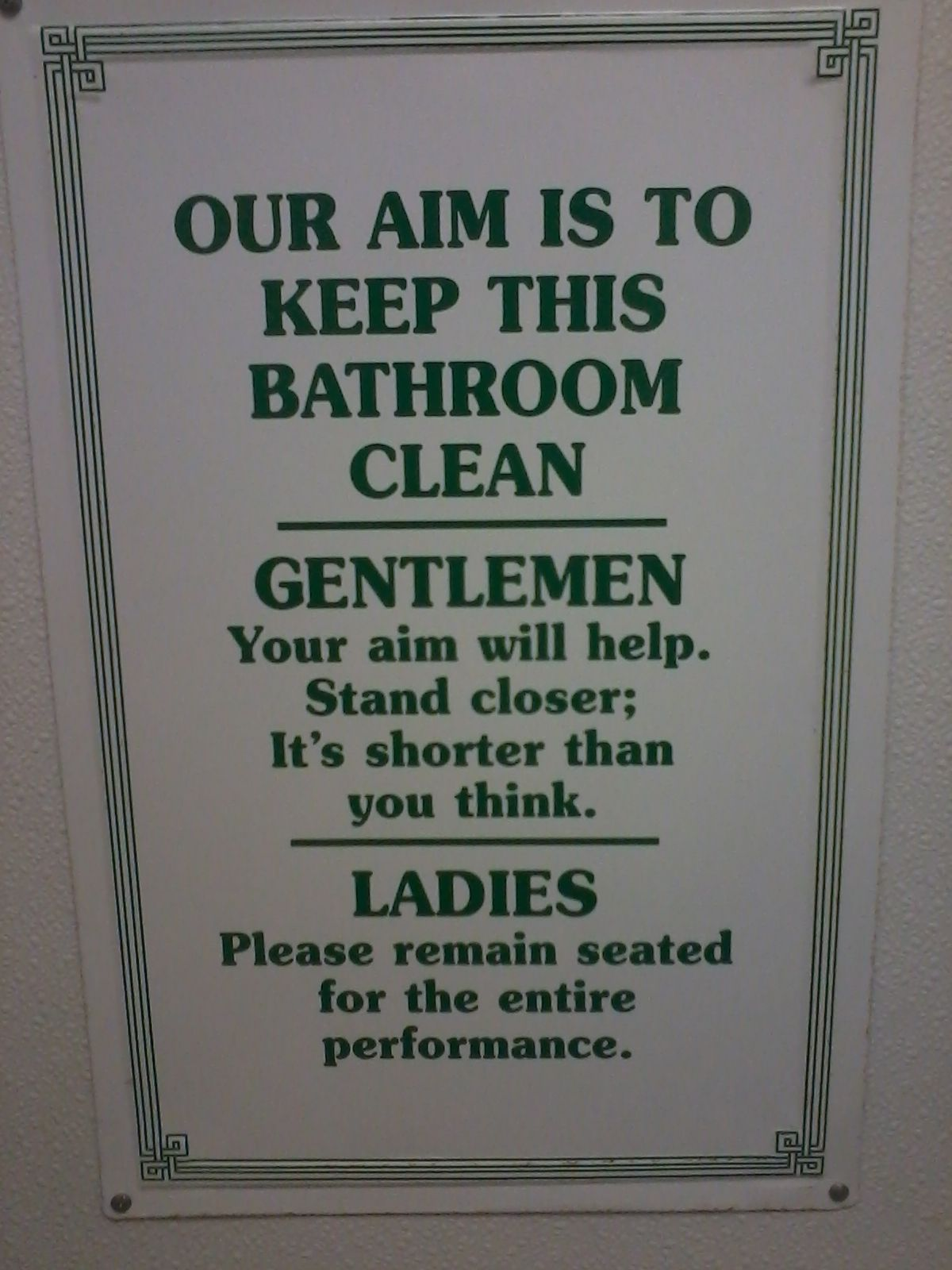 Found this in a bathroom off of a highway..funny!