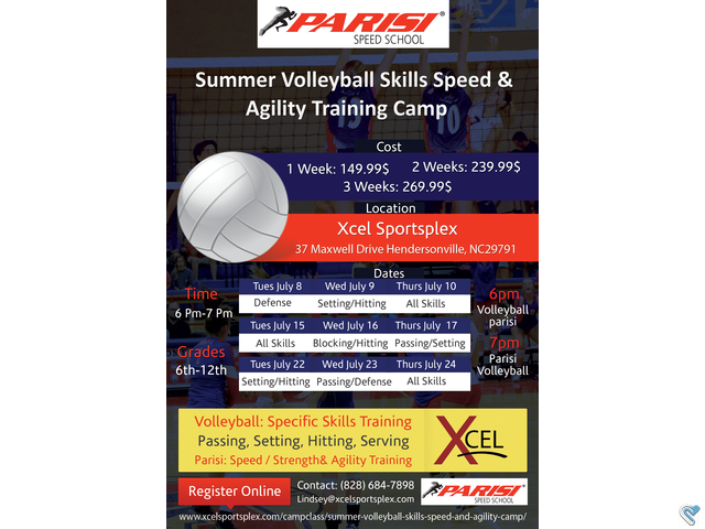 Xcel Sportsplex Xcel Sportsplex 10305 Selected Winner Client Flyer Flyer Design Agility Training Volleyball Skills