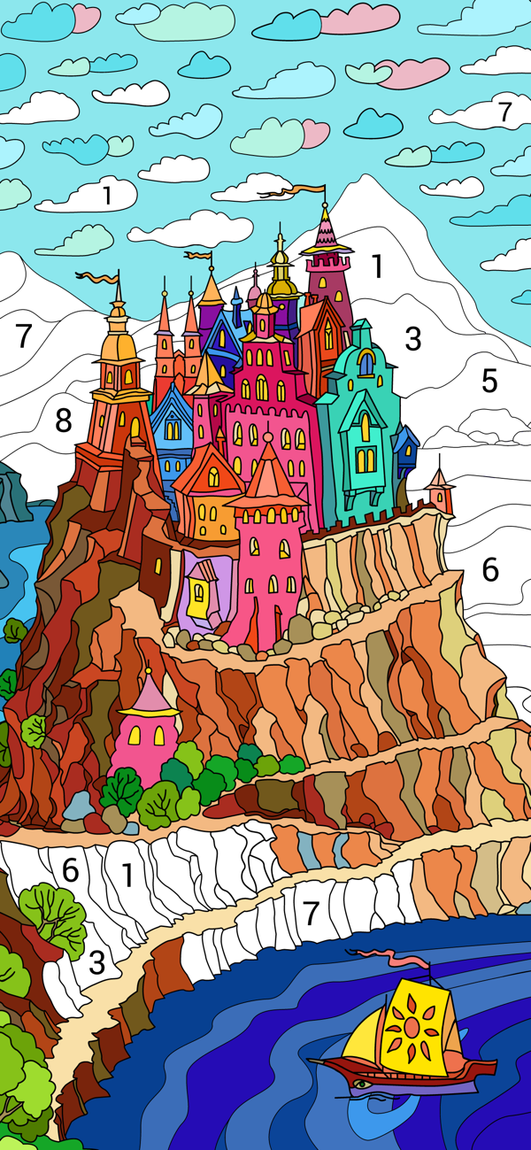Paint By Number Happy Color Is Live Appstore In 2020 Happy Colors Paint By Number Coloring Books