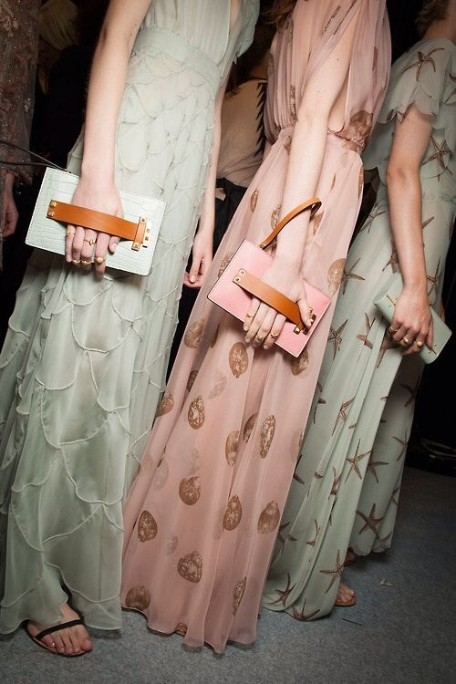 """naimabarcelona: """"Backstage at Valentino Spring 2015 